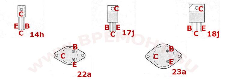 Цоколевка транзисторов BD244 - BD265